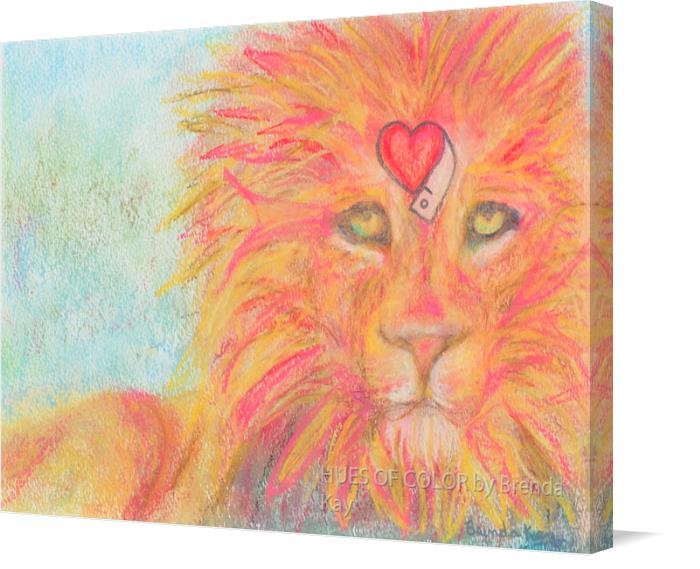 Love-and-Courage on Canvas by HUES OF COLOR by Brenda Kay