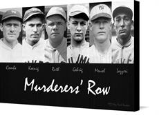 Canvas print of Murderers' Row by the artist Vintage Baseball Posters