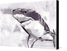 Canvas print of Shark by the artist artbasik Michael Rados