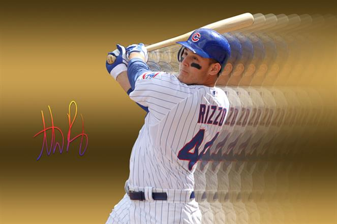 best sneakers 3a9e3 dbaa9 Anthony Rizzo Gold Canvas Exclusive Edition Anthony Rizzo ...