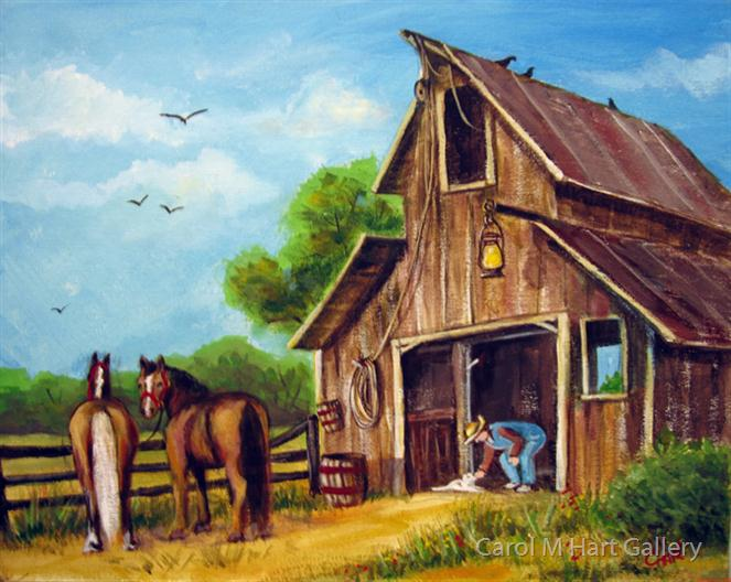 Farmer Scene By Carol M Hart Gallery