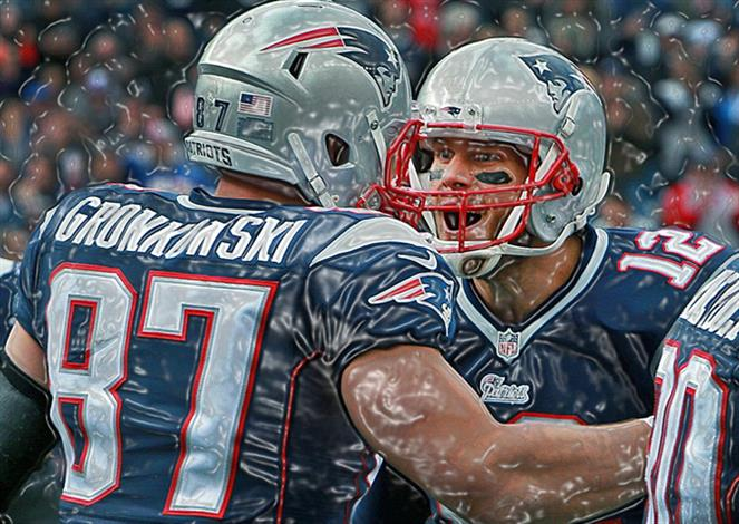 a328c3d5426e4 Tom Brady Gronk Poster Exclusive Edition Tom Brady Gronk Canvas by ...