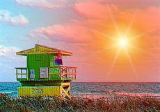 Poster print of Beach life by the artist JT Digital Art