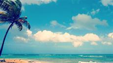 Beach Wall Art blue beach photography - turquoise ocean waves, blue sky, and a