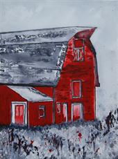 Poster print of Lost Era - Barn by the artist artbasik Michael Rados