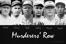 Poster print of Murderers' Row by the artist Vintage Baseball Posters