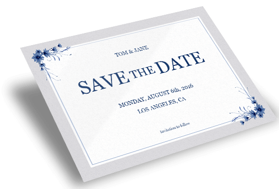 Save the date card printing reheart Gallery